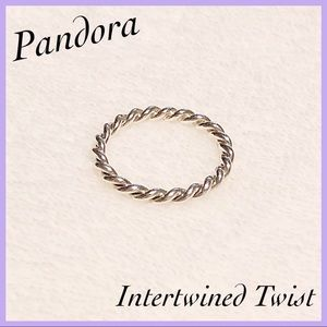 Pandora Intertwined Twist Stackable Ring size 9